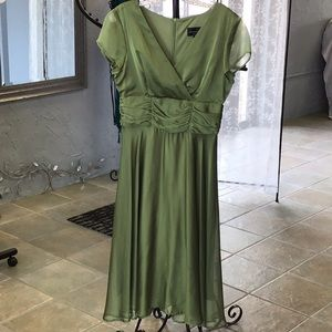 Connected Apparel Green Apple Dress